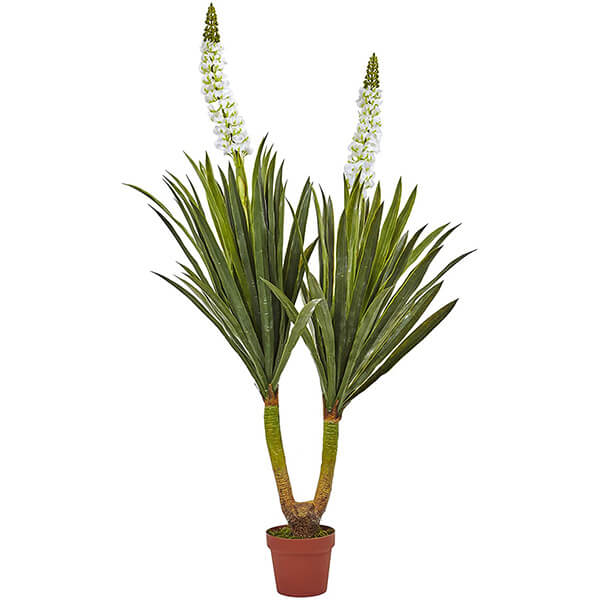 Fake Yucca Plant with Floral Sprouting (4 ft 9 in)