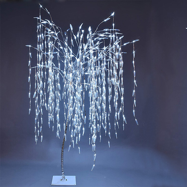 Light-up Artificial Willow Tree with 800 Bulbs (7 ft)