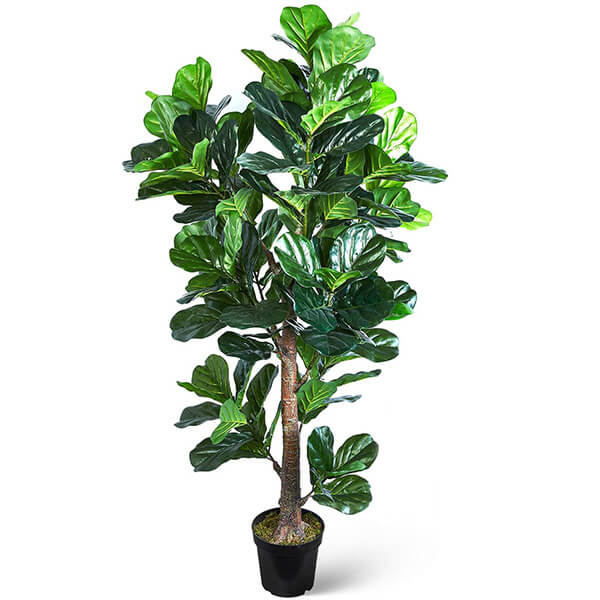 ROHS Certified Fake Fiddle Leaf Fig Tree (6 ft. 3 in)
