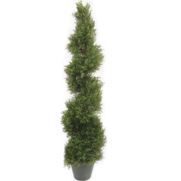 Artificial Spiral Cypress Tree (4 ft. 3 in)