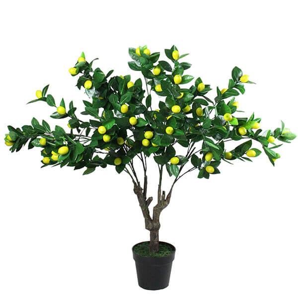 Fake Lemon Plant with a Black Pot (3 ft. 9 in)
