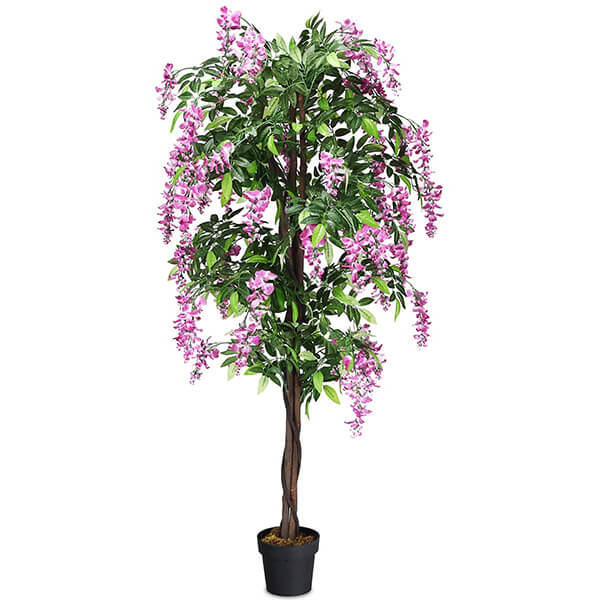 Faux Wisteria Tree with 1260 Leaves (6 ft)