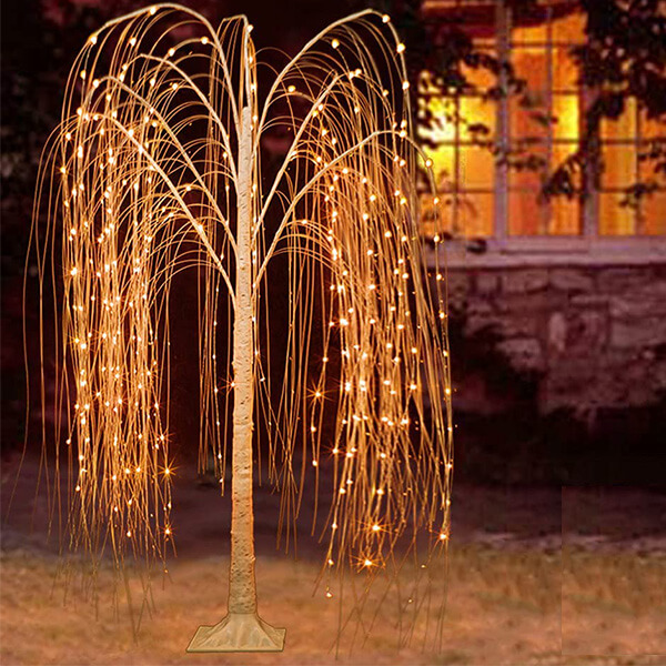 Lighted Weeping Willow Tree with 15 Colours (6 ft)