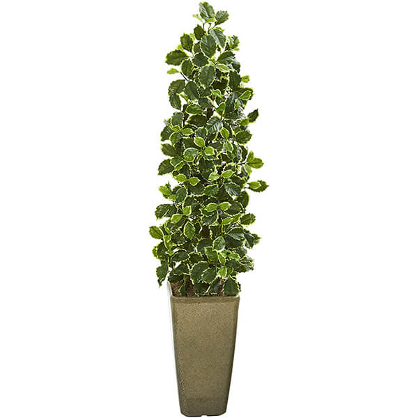 Potted Artificial Holly Plant (3 ft. 11 in)