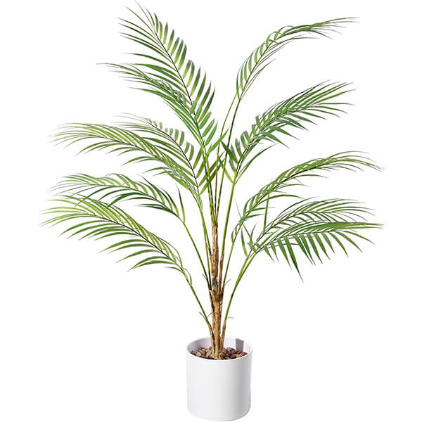 Small Fake Palm Tree with Decorative Planter (2 ft. 11 in)