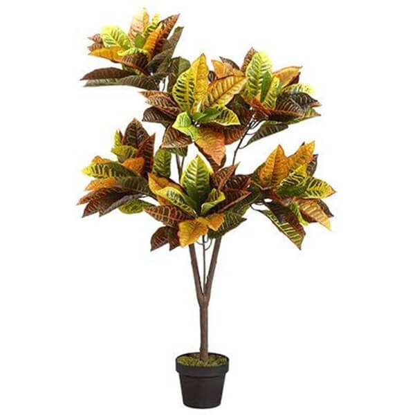 UV Resistant Fake Croton Plant for Outdoors (4 ft)