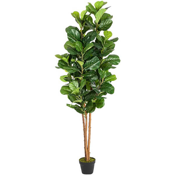 UV Resistant Fiddle Leaf Fig Faux Tree for Outdoors Usage (6 ft.)