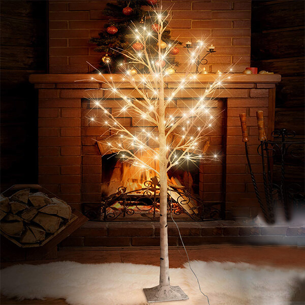 Artificial Birch Tree with 160 LED Lights with different modes (6 ft)