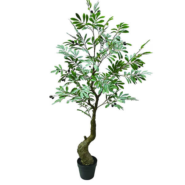 Indoor and Outdoor Artificial Olive Tree (4 ft. 7 in)