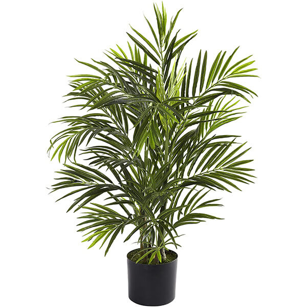 UV Resistant Small Fake Palm Tree for Outdoors (2 ft. 6 in)