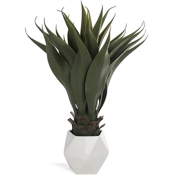 Artificial Agave Plant with Ceramic Pot (1 ft. 11 in)