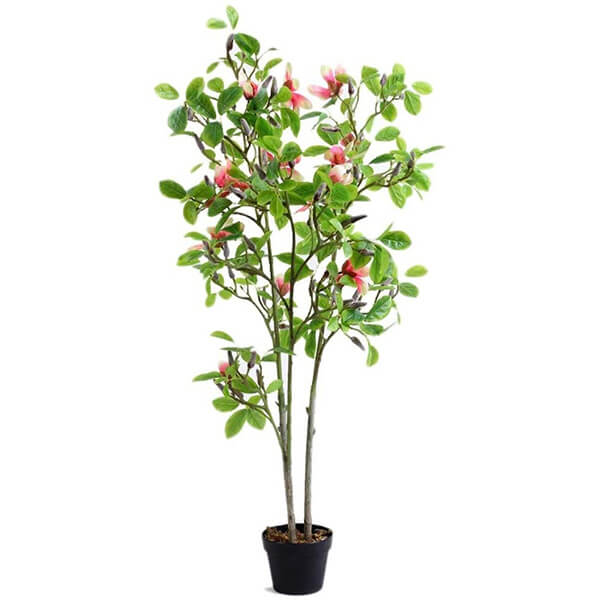 Artificial Magnolia Tree With Pot (4 ft. 5 in)