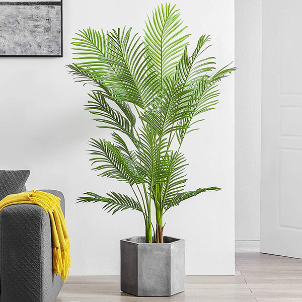 Fake Areca Palm Plant with 17 Leaves (5 ft.5 In)