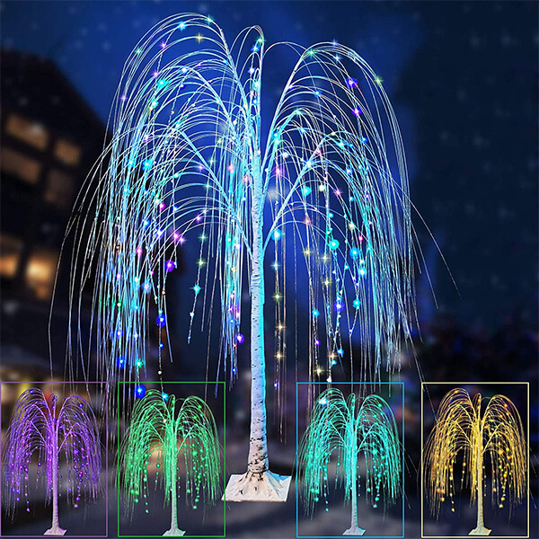 Fake Willow Tree at 17 Colours with 240 LEDs (5 ft.)