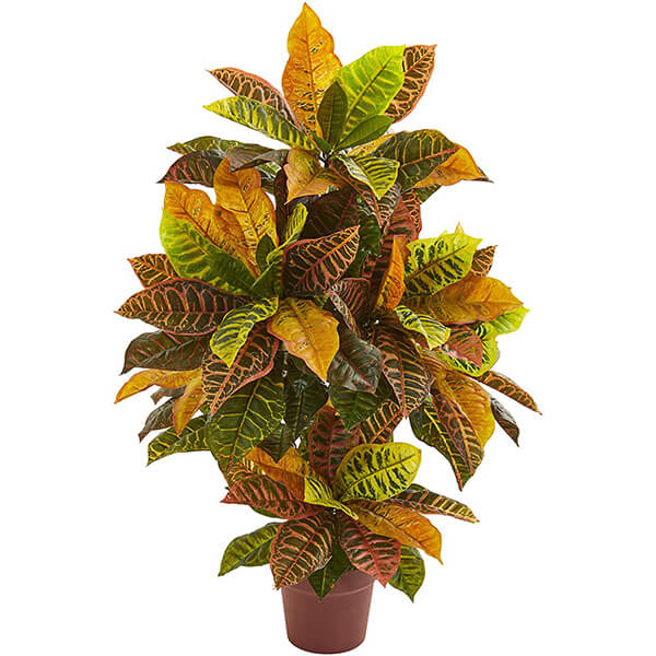 Faux Silk Croton Plant (3 ft. 3 in)