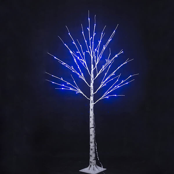 Light up Artificial Birch Tree with 16 Colours (5 ft)