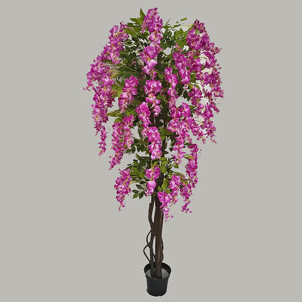 Real Touch Silk Wisteria Tree (5 ft.)