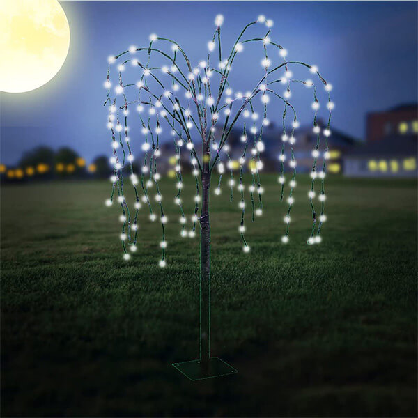 Solar Powered Weeping Willow Tree with 200 LED Lights (4 ft.7 in)