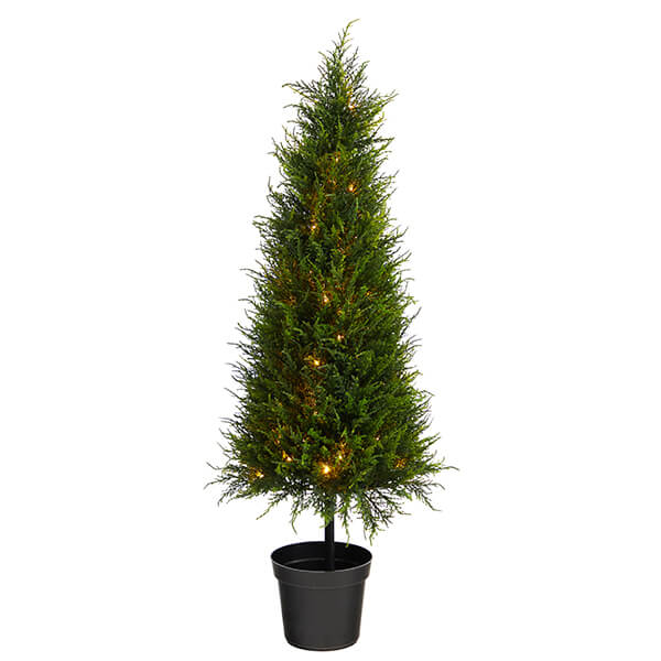 Artificial Christmas Cypress Tree with 350 LEDs (3 ft. 6 in)
