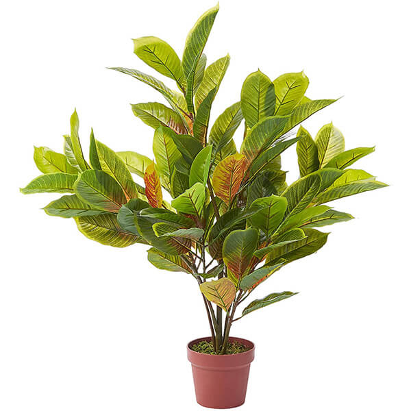 Artificial Croton Plant for Indoors (3 ft)