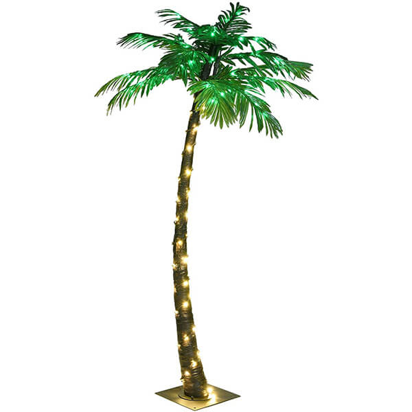 Lighted Artificial Indoor Palm Tree (5 ft)