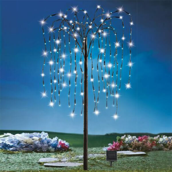 Multi-colored Weeping Willow Christmas Tree at Low Price (4 ft. 6 in)