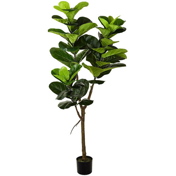 UV Resistant Artificial Fiddle Leaf Fig Tree for Outdoors (5 ft)