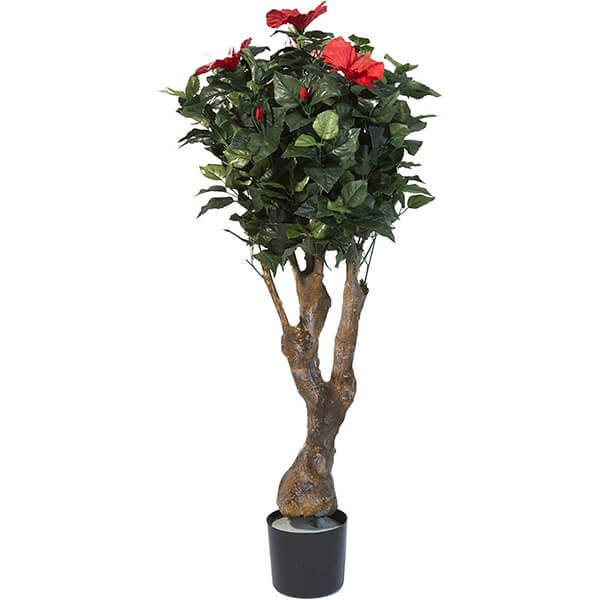 UV Resistant Artificial Hibiscus Tree for Outdoor Usage (4 ft)