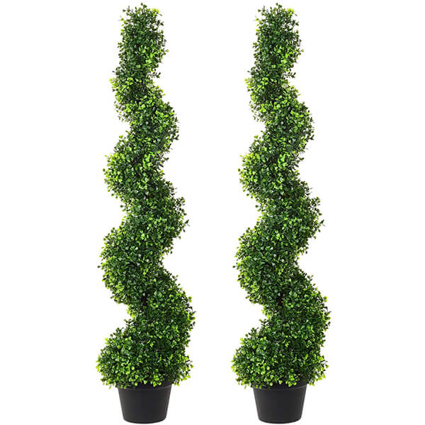 UV Resistant Topiary Artificial Boxwood Plants (4 ft)