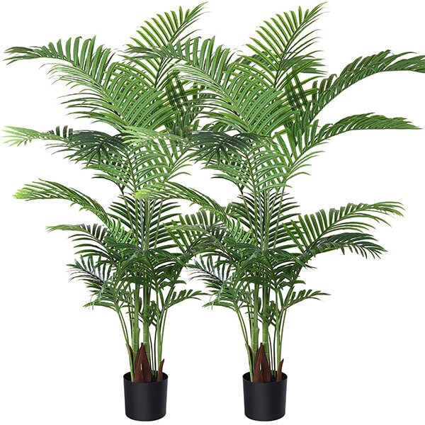 2 Pcs of Artificial Areca Plant at Affordable Prices (5 ft)