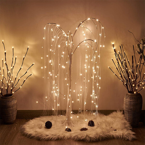 Christmas Weeping Willow Tree with 180 LED Lights (4 ft.)