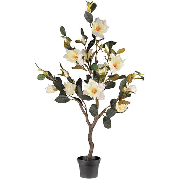 Faux Magnolia Tree with White Flowers (4 ft.)