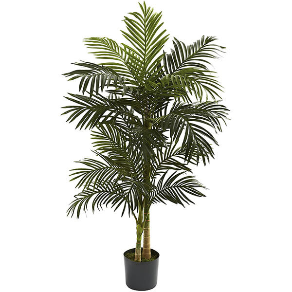 Golden Cane Fake Palm Tree for Indoors (5 ft )