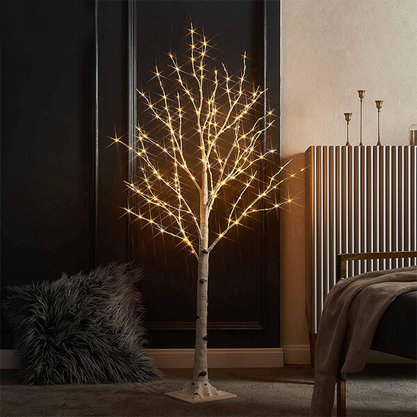 Lighted Birch Trees with 200 LEDs (4 ft)