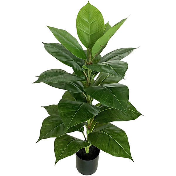 Tabletop Artificial Rubber Plant (2 ft. 6 in)