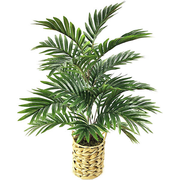 Artificial Palm Tree with Wicker Basket (2 ft.)