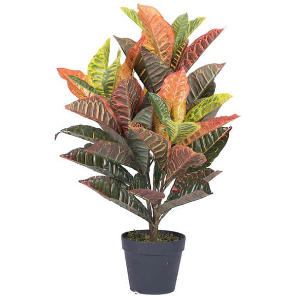 Potted Artificial Croton Plant (2 ft. 6 in)