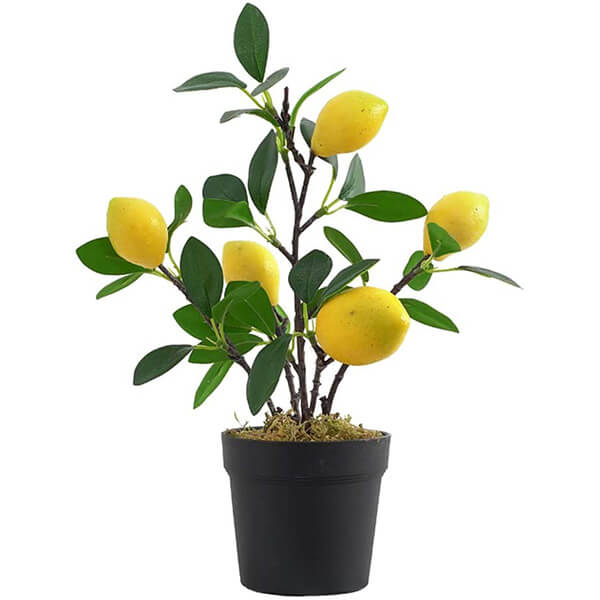 Real Touch Tabletop Lemon Fake Plant (1 ft.)