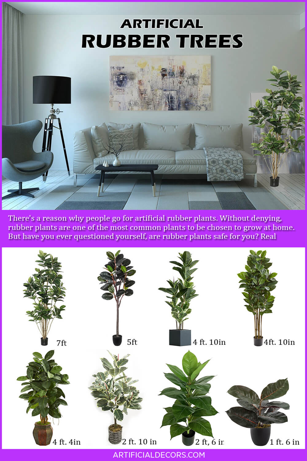 Artificial Rubber Trees