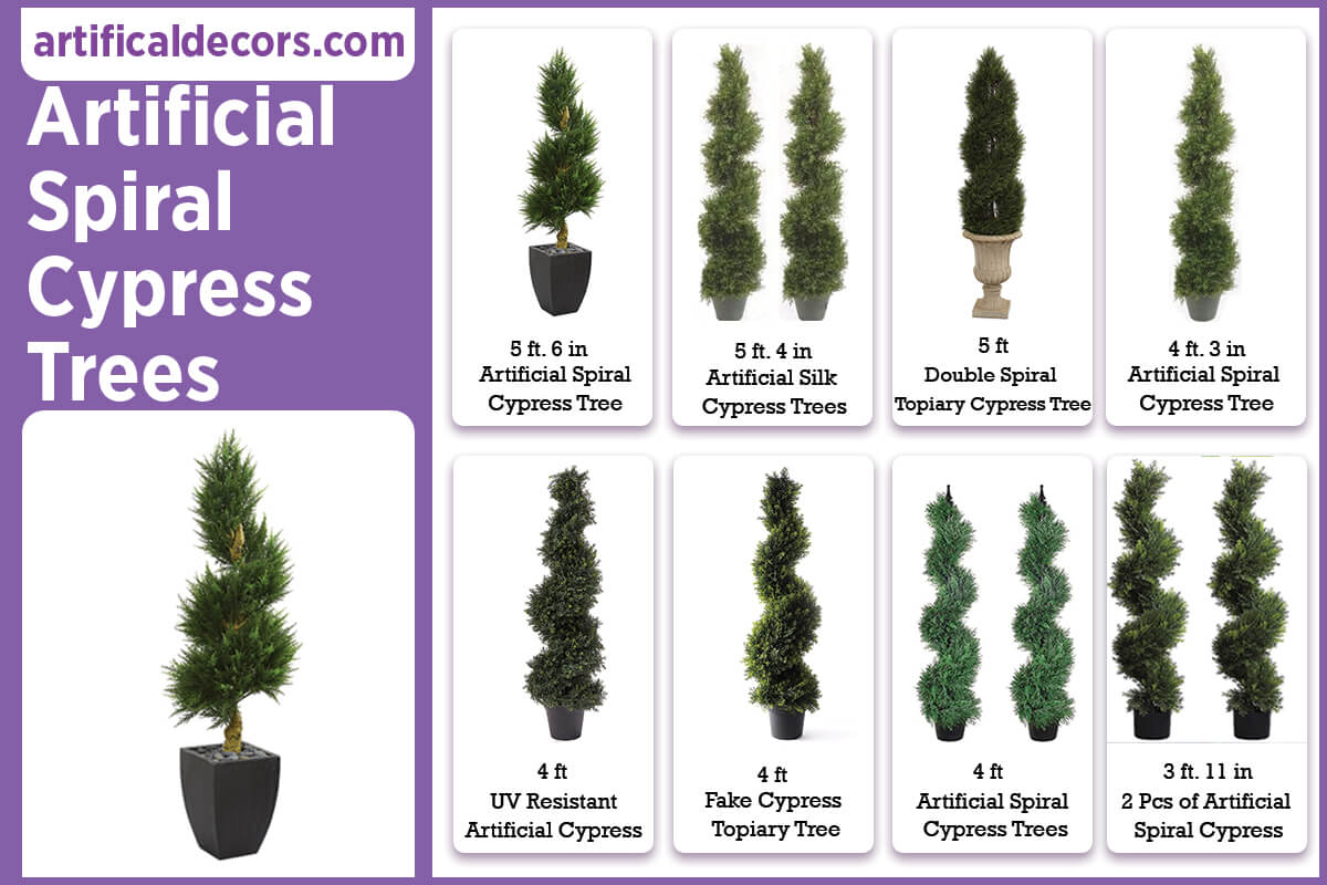 Artificial Spiral Cypress Trees