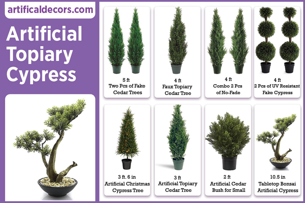 Artificial Topiary Cypress