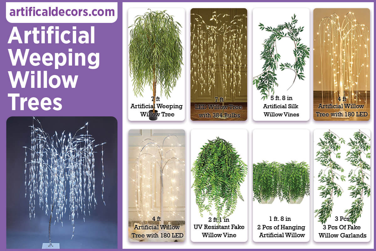 Artificial Weeping Willow Trees
