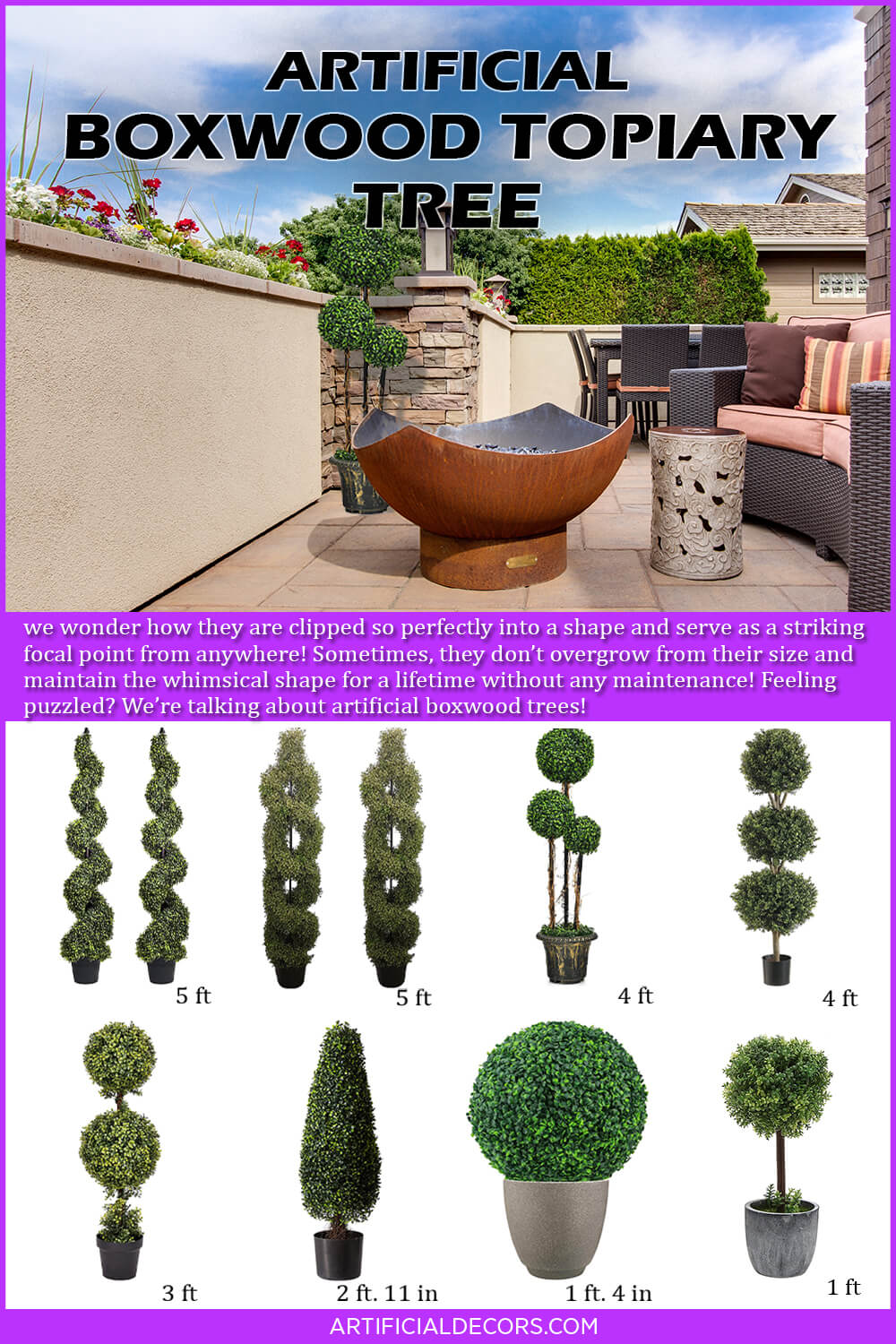 Best Artificial Boxwood Topiary Tree