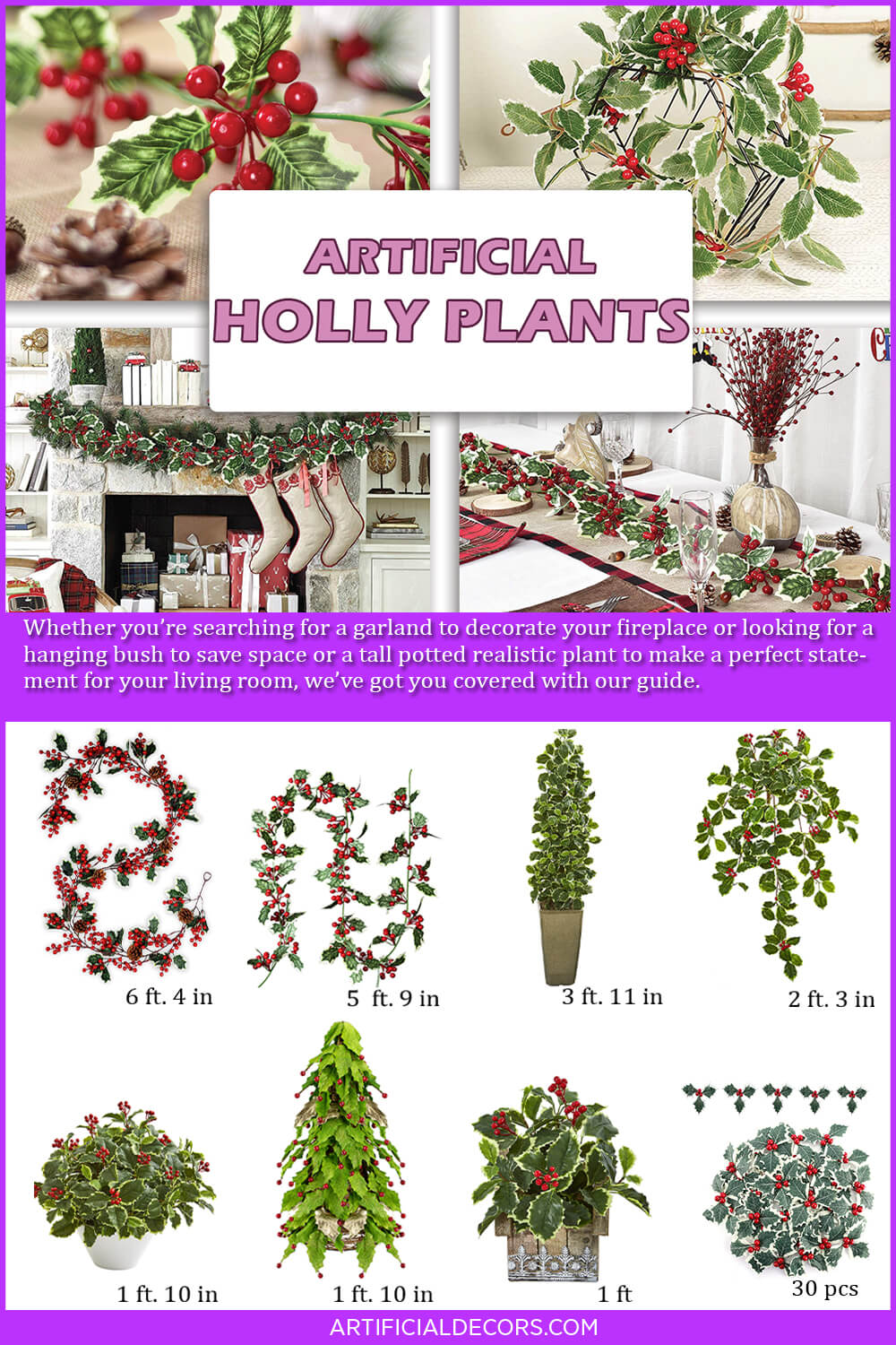 Best Artificial Holly Plants