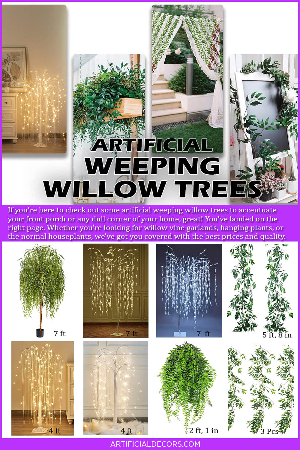 Best Artificial Weeping Willow Trees