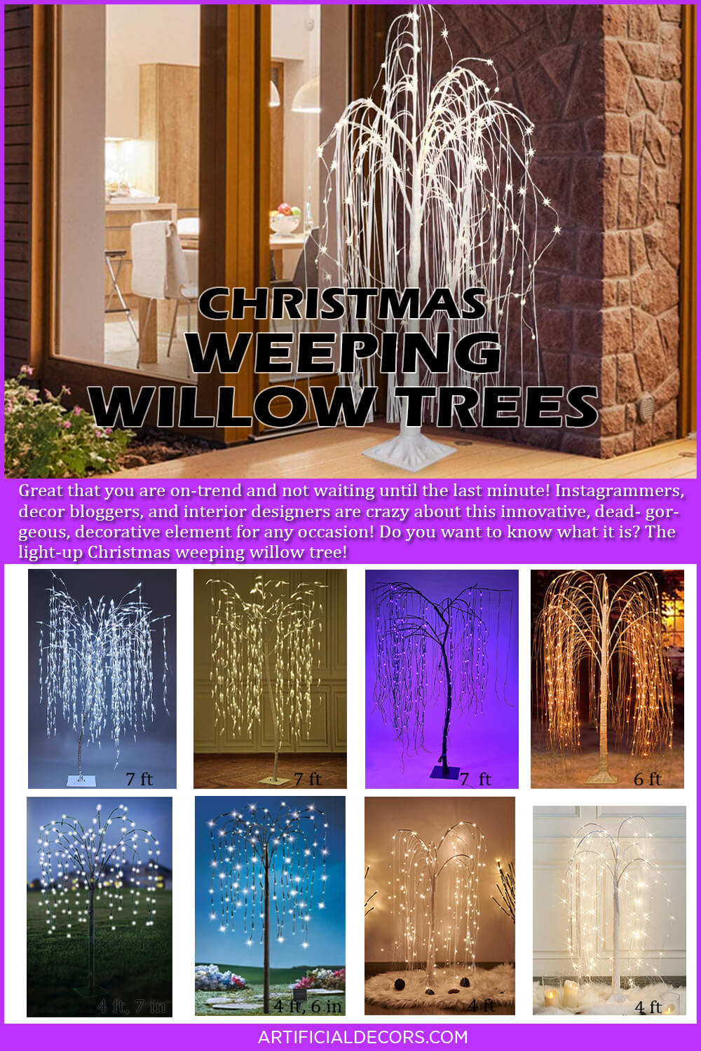 Best Christmas Weeping Willow Trees