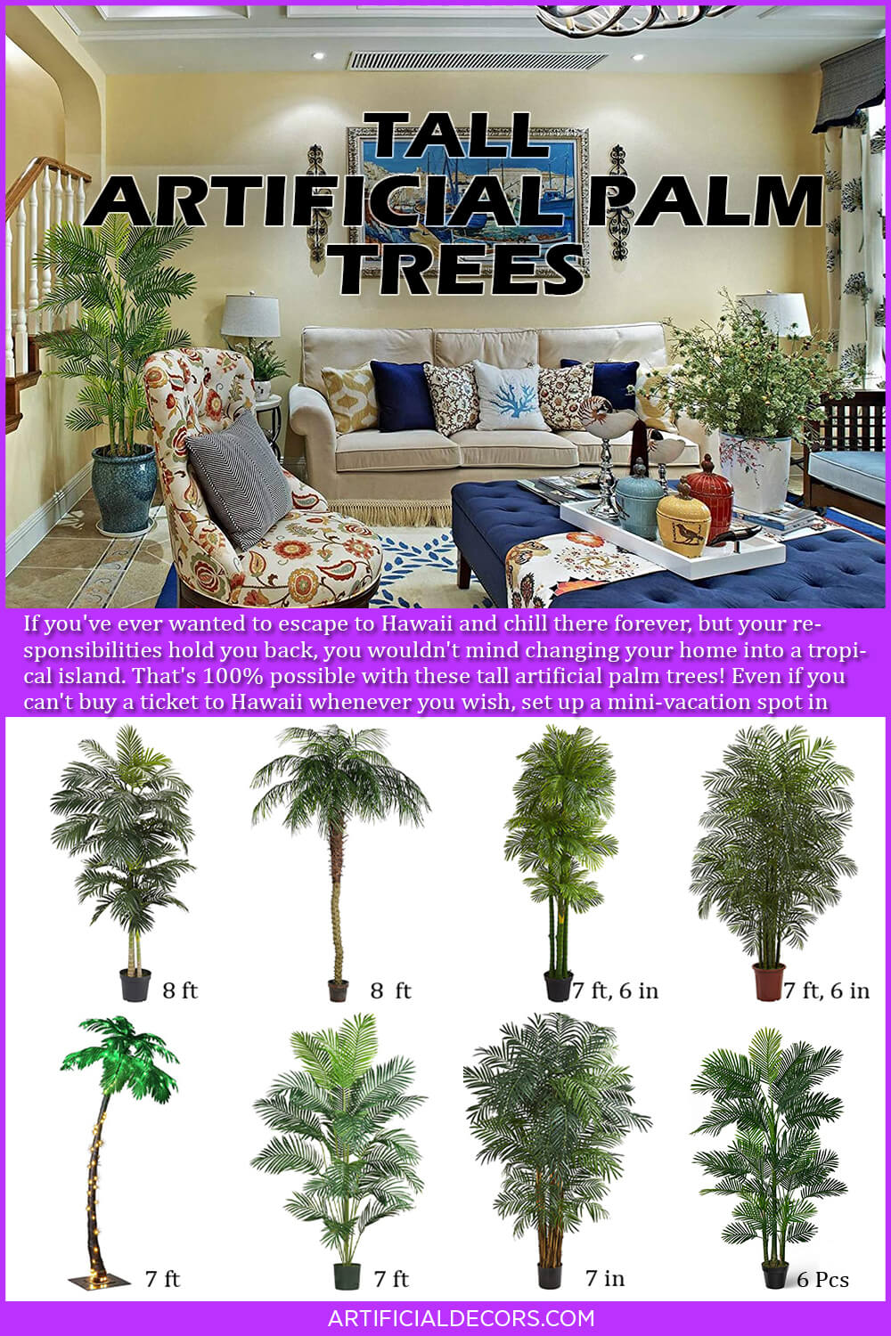 Best Tall Artificial Palm Trees