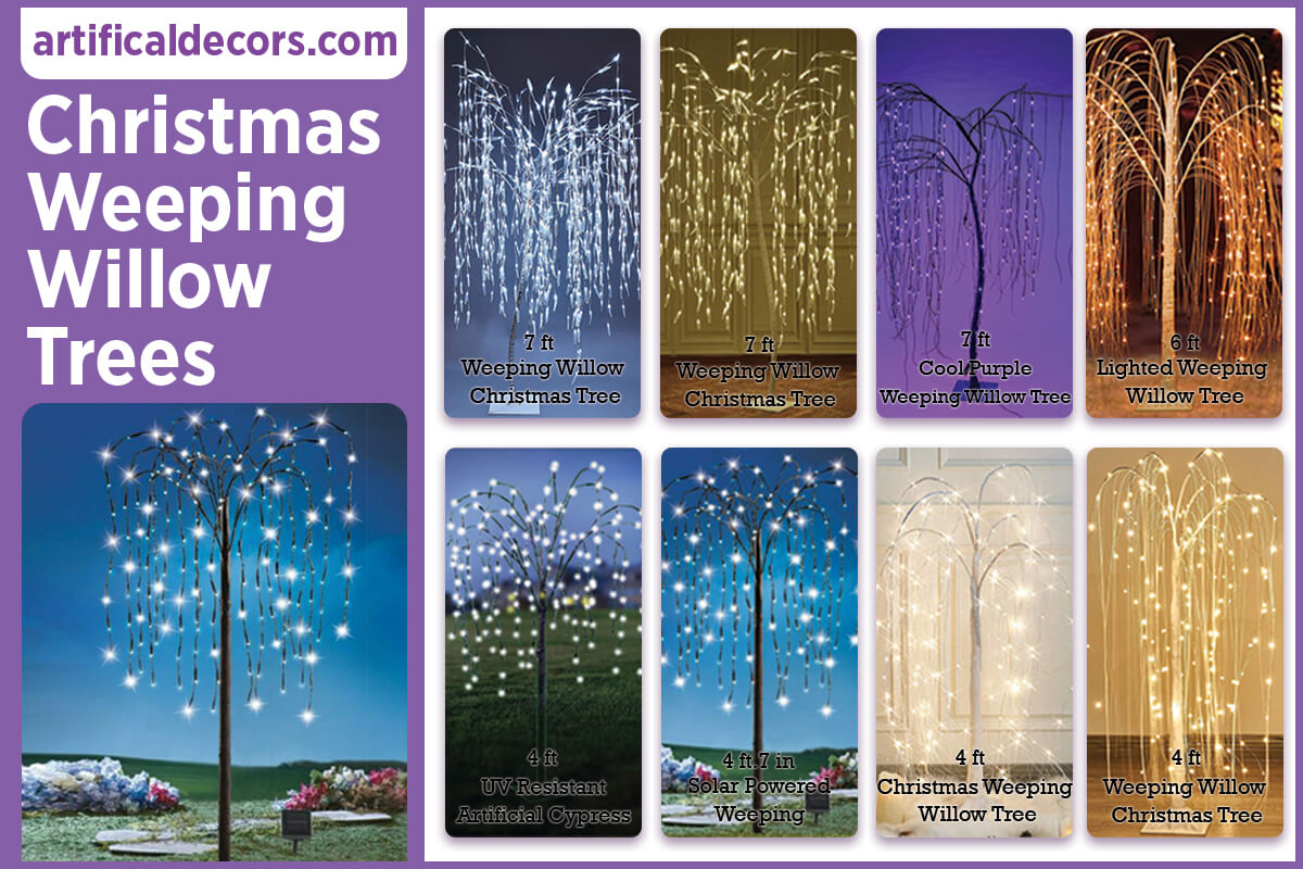 Christmas Weeping Willow Trees