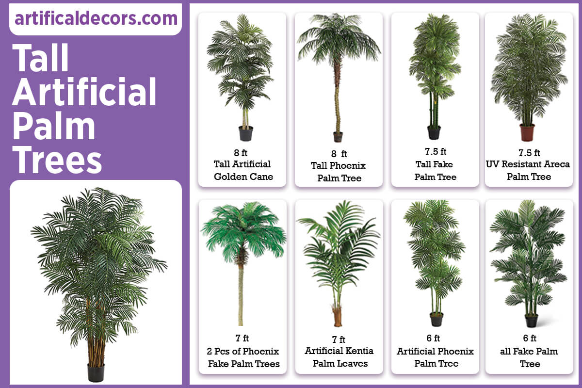 Tall Artificial Palm Trees